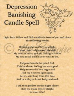 Depression-Banishing-Candle-Spell-Book-of-Shadows-Page-BOS-Pages-Witchcraft