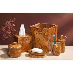 Found it at Wayfair - 6 Piece Marble Bath Set