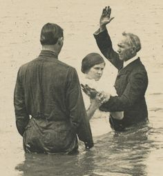 """Brother Job baptized his followers until their life and their sins fled their bodies."""