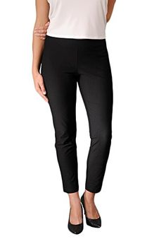 Eileen Fisher womens SLIM ANKLE PANT WYK in Black size MED *** Want additional info? Click on the image.