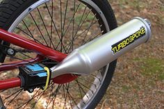 Noise-making Bicycles - Turbospoke is every child's dream -- an exhaust-sound system for your bike. Turbospoke turns your boring, everyday bicycle into an almost-real moto. Cool Bicycles, Cool Bikes, Marathon, Bike Humor, Bike Gadgets, Moto Cross, Bike Chain, Bicycle Accessories, Toys For Boys