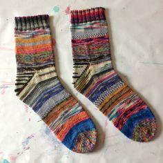 littlebobbins: Scrappy Sock Happiness