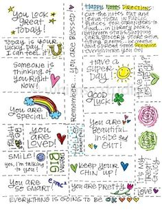 little notes to show you care