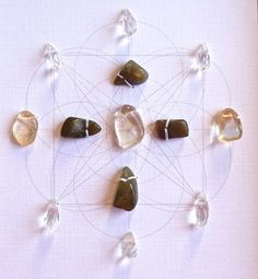 SHINE YOUR LIGHT framed crystal grid  sacred geometry, citrine, labradorite