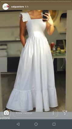 Parte da saia que eu gostei Ivory Dresses, Modest Dresses, Simple Dresses, Cute Dresses, Beautiful Dresses, Casual Dresses, Summer Dresses, Baby Dresses, Bride Dresses
