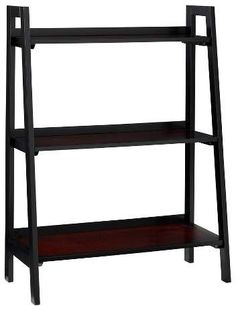 Linon Camden 3 Shelf Ladder Bookcase Black Cherry - Linon Home Decor
