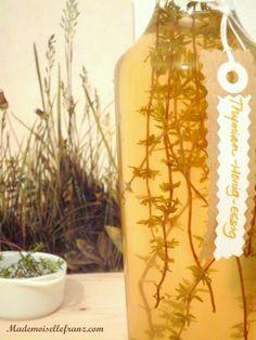 Vinaigre aromatisé au miel et au thym