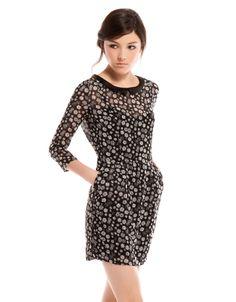 $549 Bershka México - Vestido Bershka cuello contraste