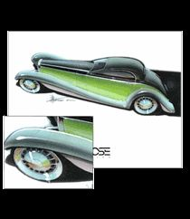 Vehicle posters from Foose Design, by Chip Foose