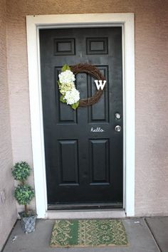front door makeover by Worley House