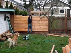 Horizontal fence- this is a really good read on a couple redoing their yard