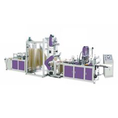 Advanced non woven fabric bag making machine makes high quality D cut, U, W cut, Box Type bags etc. out of non woven fabric
