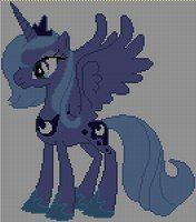 Luna cross stitch pattern by ~Jackiekie Crossstitch and Embroidery Pattern My Little Pony Crafts Tutorial My Little Pony Patterns for Fan Art Diy Projects, My Little Pony Sewing Template for Unicorn , pony, ponies, pattern, template, sewing, diy , crafts, kawaii, MIP