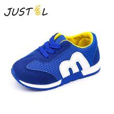 JUSTSL  Children Shoes Girls Boys Sport Shoes Antislip Soft Bottom Kids Fashion Sneaker Comfortable Breathable Mesh #Affiliate