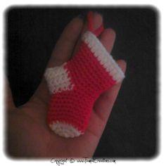 Crochet: Chaussette deNoël