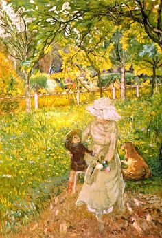 Sunny Morning, Lucy Hessel and Denise Natanson-1910 by Edouard Vuillard