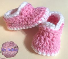 Size Newborn Handmade Crochet Baby Slippers baby by Hooked4Babies
