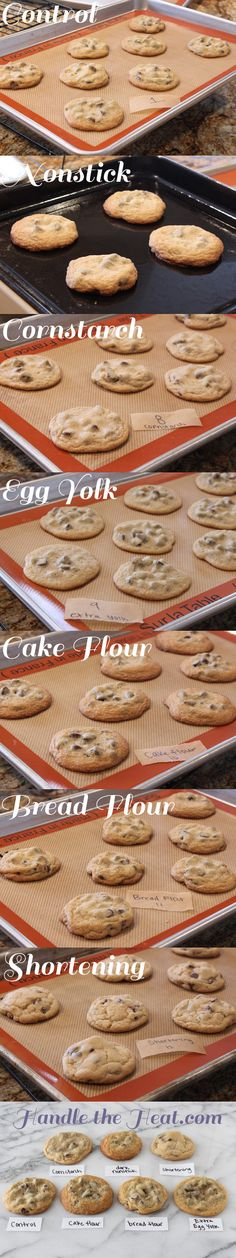 The Ultimate Guide to Chocolate Chip Cookies: PART 2 - shows how different ingredients make cookies soft, chewy, crunchy, or cakey.