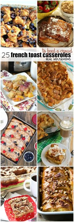 Breakfast just got a whole lot easier with these 25 French Toast Casserole Recipes to Feed a Crowd! Breakfast For A Crowd, Food For A Crowd, Best Breakfast, Breakfast Time, Crockpot Breakfast Casserole, French Toast Casserole, Beef Casserole, Best Casserole Recipes Ever, Casserole Ideas