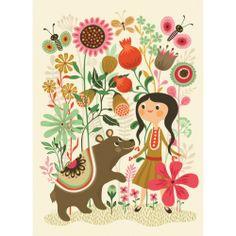 KoKoBello - barnkläder, leksaker & bärsjalar. - Wild Dream Bear affisch av Helen Dardik för Psikhouvanjou.nl