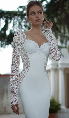 Unique Long Sleeved Gown