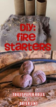 DIY fire starter!  We lit our campfire with this idea and it really worked!
