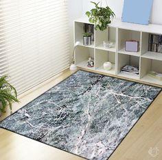 Marble Texture Black White Blanket
