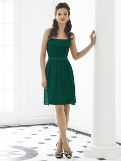 this one is pretty cute. the fabric for these hunter green ones is lux chiffon. there are a lot of styles on the site that come in this fabric and color!