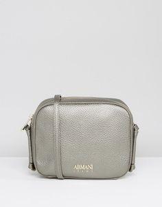 5b76bbf59e46 ARMANI JEANS SIMPLE CROSS BODY BAG IN PLATINUM METALLIC - GRAY.  armanijeans   bags