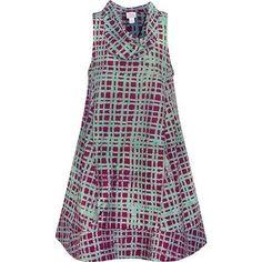 Fair Trade Clothing, Ghana, Batik Dress, Princess Seam, Plaid Dress, Retro Dress, Handmade Clothes, Women Empowerment, Organic Cotton