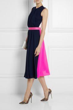 Roksanda Ilincic|Sessler color-block wool-crepe dress|NET-A-PORTER.COM