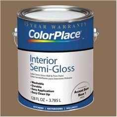 ColorPlace Interior Paint, 1 Gallon, Orange
