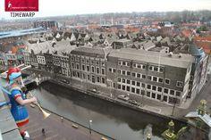 Uitzicht vanaf de Waagtoren in Alkmaar op het Voordam. 1978 - 2014 #Timewarp