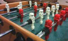 It may well have been patented as far back as the 1890s, but the game of Table Football - or Foosball - is thought to have been invented by one Harold Searles T