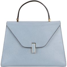Valextra Isis Small Bag ($3,090) ❤ liked on Polyvore featuring bags, handbags, purses, blue, handbag purse, valextra handbags, man bag, hand bags and strap purse