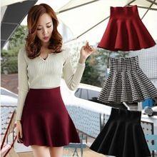 2014 primavera mulheres saias curtas cintura alta feminino saia de linho plissada puff moda roupas femininas tamanho livre cor preta(China (Mainland))