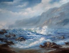 """""""Windy Seascape"""" Oil Painting by Kevin Hill Check out my YouTube channel: KevinOilPainting For more information about brushes, DVDs, oil paint, and more go to: www.paintwithkevin.com"""
