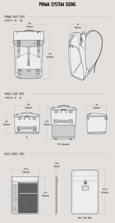 Boundary Prima System: The Ultimate Modular Pack by Boundary — Kickstarter Backpack Drawing, Drawing Bag, Industrial Design Portfolio, Portfolio Design, Bag Illustration, Water Bottle Design, Backpack Pattern, Diy Backpack, Back Bag
