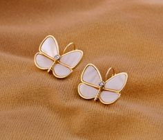 Feminine Shell Gold Plated Stud Earrings