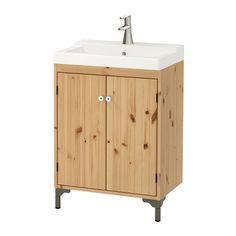 SILVERÅN / TÄLLEVIKEN Szafka pod umywalkę z 2 drzwiami - jasnobrązowy - IKEA