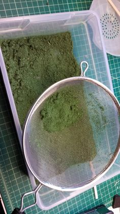 Terrain tutorial this is good for moss on the dollhouse Scotty's Workshop: Inexpensive and easy homemade flock! Made from sawdust & paint you can use tea, oregano, peppar