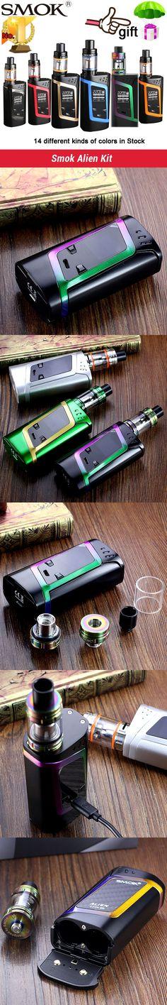 2017 top 1 Smok Alien Kit Alien 220W Box Mod with 3ml TFV8 Baby Tank e Electronic Cigarette Vape smok alien Kit  VS Smok ULTRA