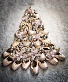 christmas tree of ballet shoes...