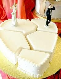 Und nochmal eine Schöne Torte für die #Scheidung. Ideal für eine #Scheidungsparty mit fünf Gästen.