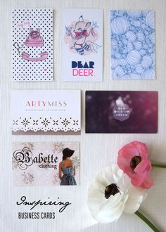 I loved seeing my new business card in this collection... Inspiring Business cards | http://lanaloustyle.com/2014/09/inspiring-business-cards-2.html