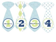 Monthly Onesie Stickers for Baby Boys by getthepartystarted, $12.00