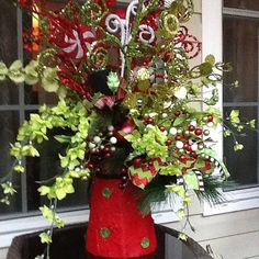 Christmas Top Hat Centerpiece  by WreathsEtc on Etsy