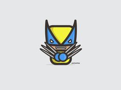 Wolverine by Konrad Kirpluk, Simpler Series Marvel Comics, Marvel Art, Illustration Mignonne, Cute Illustration, Simple Character, Character Design, Comic Books Art, Comic Art, Wolverine Tattoo