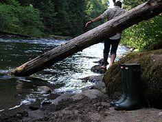 walking barefoot in a stream...memories of childhood