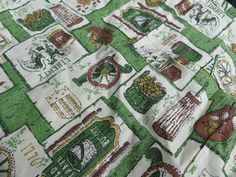 Vintage Green and White and Brown Kitchen by oldandnewboutique